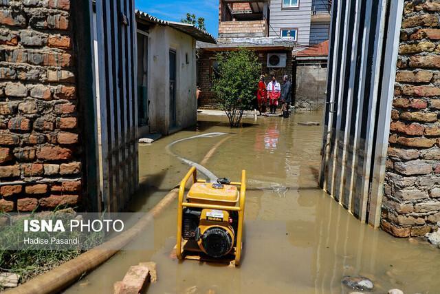 خسارت 70 درصدی تعدادی از منازل شهر آشخانه به علت بارش شدید باران