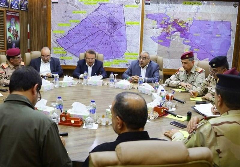 عراق، برگزاری نشست امنیتی به ریاست عبدالمهدی، تظاهرات در میدان الخلانی و الدیوانیه