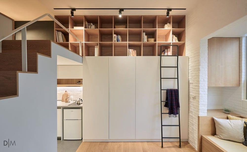 طراحی خلاقانه یک آپارتمان کوچک که همه چیز دارد