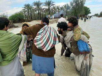 مردم مناطق جنوبی استان سیستان و بلوچستان خانه ای نداشتند که با سیل از بین برود!