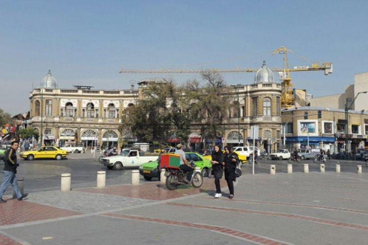 تجاوز برج های تجاری به حریم بصری میدان 8 گنبد حسن آباد
