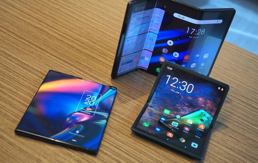 شرکت TCL از دو گوشی دارای نمایشگر رول شونده و تاشو رونمایی کرد