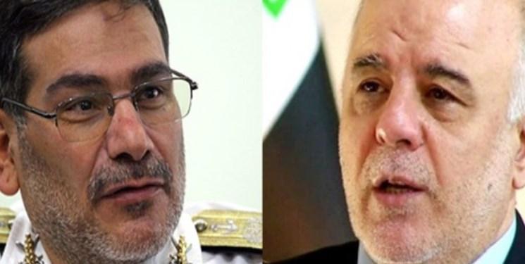 العبادی در ملاقات با شمخانی بر ضرورت تحکیم روابط ایران و عراق تاکید نمود