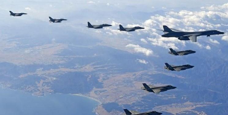کره جنوبی و آمریکا برای هشدار به پیونگ یانگ، رزمایش هوایی برگزار می نمایند
