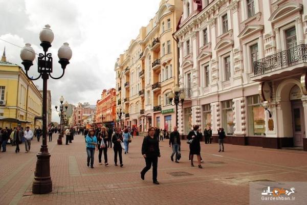 خیابان آربات، از قدیمی ترین خیابان های مسکو